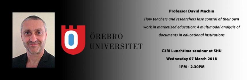 Picture of David Machin and logo of Örebro University Sweden