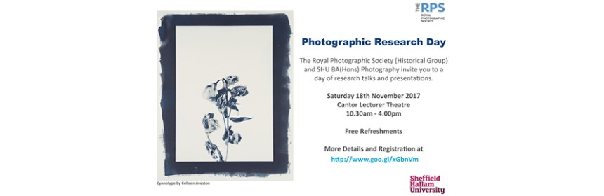 Image to promote Photographic Research Day at SHU