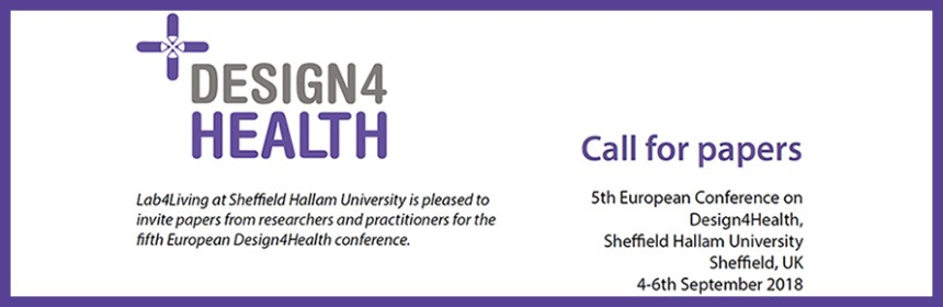 Design4Health banner image - Call for papers. Courtesy of Kirsty Christer