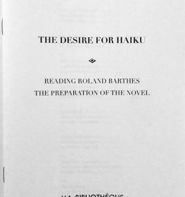 Front cover of 'The Desire for Haiku' featuring Sharon Kivland and Emma Bolland