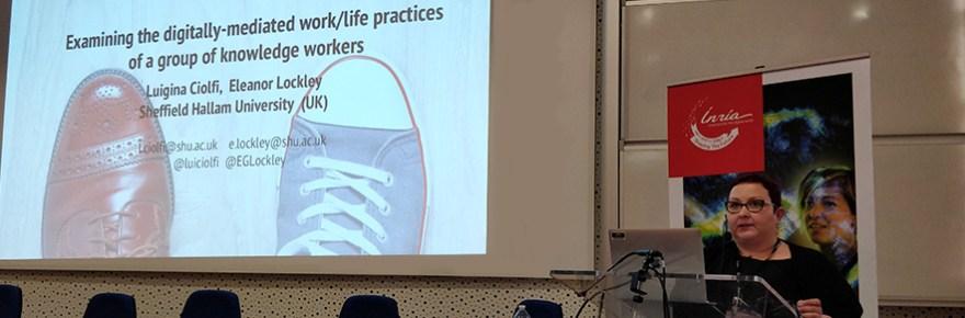 Professor Luigina Ciolfi at ECSCW2018 (Image courtesy of Luigina Ciolfi)