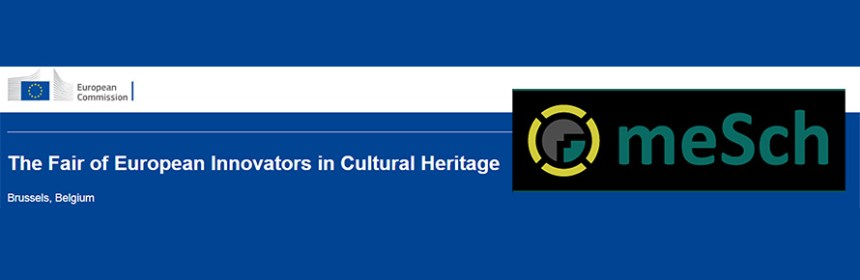Banner image - Fair of European Innovators in Cultural Heritage and meSch logo