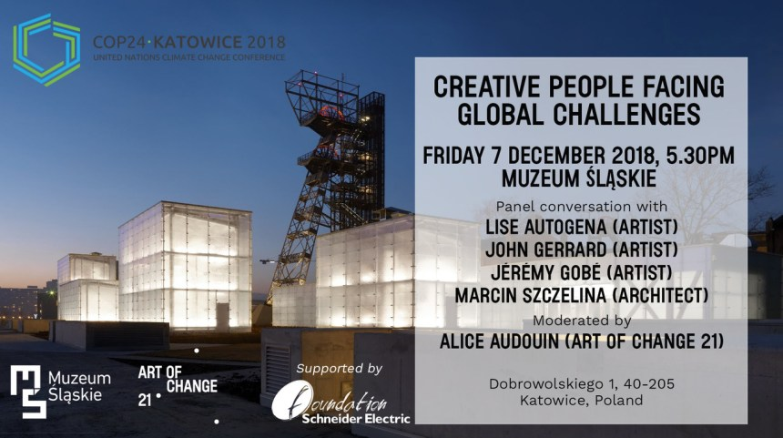 Professor Lise Autogena 'Creative People Facing Global Challenges' panel at the COP24 climate conference in Katowize