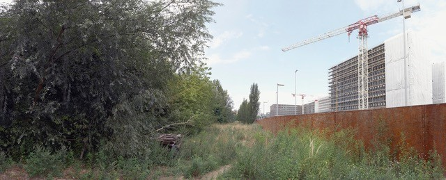 Chaussee Strasse 2014 Digital composite panorama. Rose Butler