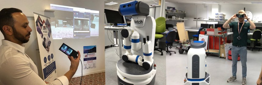 Connecting Fetch robot to the RoboSHU Virtual Reality Museum and controlling through Virtual Reality at the CARR lab
