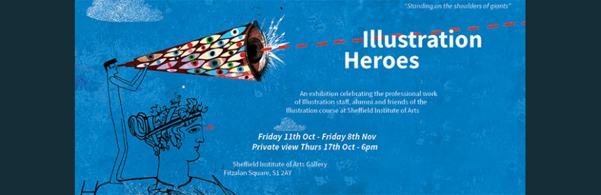 2019-10 Illustration Heroes - HPO Exhibition Banner