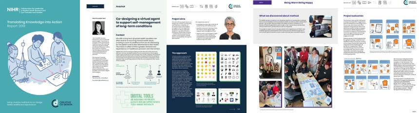 The case studies book – The front page and a couple of spreads