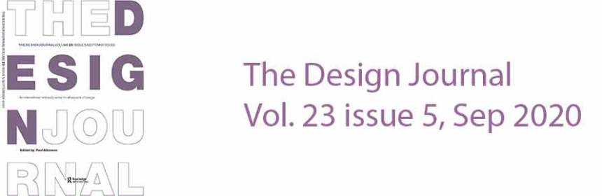 The Design Journal Vol 23 issue 5