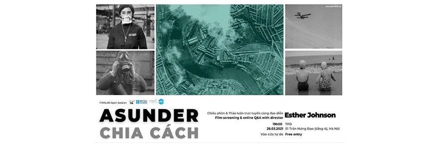 Image with details of TPD screening of Asunder, by Esther Johnson