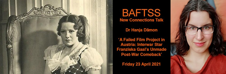 BAFTTS New Connection talk - picture of Franziska Gaal, Dr Hanja Dämon and the BAFTTS logo