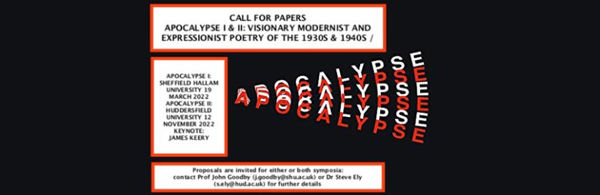 Apocalypse Poetry - Call for Papers banner