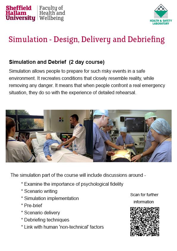 Simulation course flyer