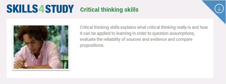 Skills4StudyCampus: Critical thinking skills