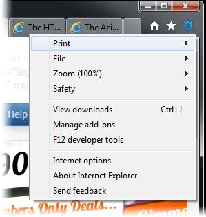 IE9 options