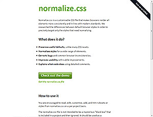 normalize.css screenshot