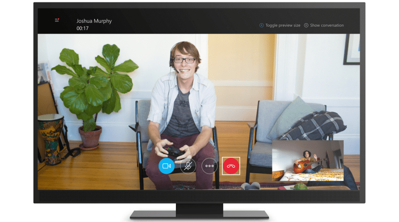 Video call on Skype for Xbox One
