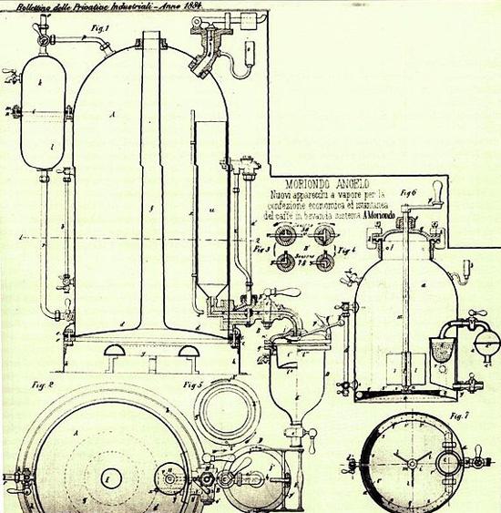 Moriondo's espresso patent