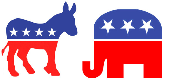 Donkey And Elephant, Symbols Of Democratic & GOP Parties