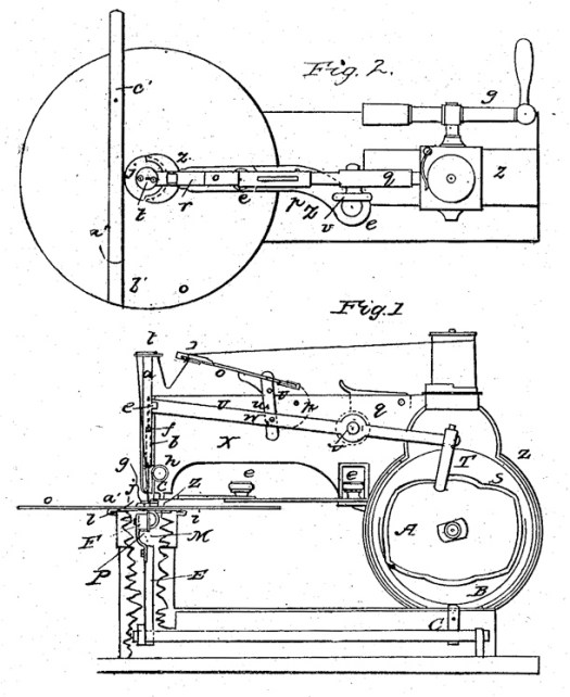 Walter Hunt sewing machine