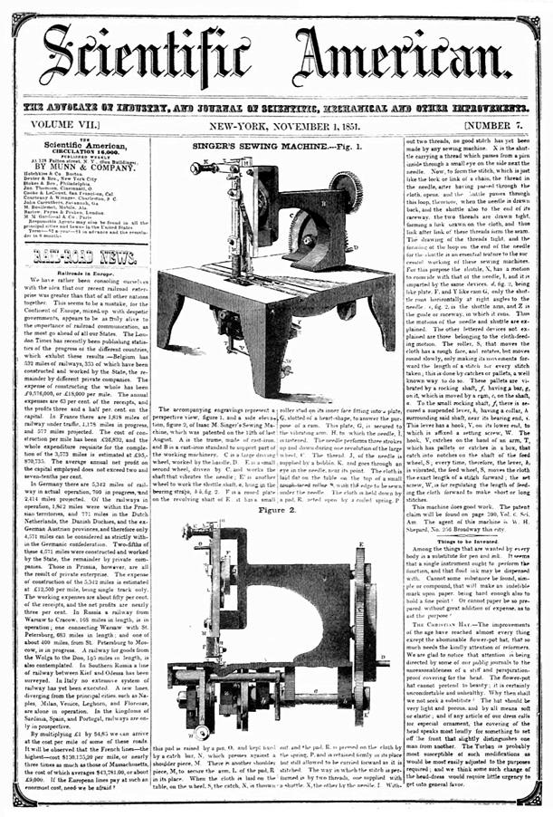 first singer sewing machine