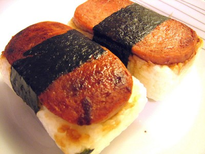 Spam musubi, courtesy of Flickr user bandita