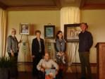 Prize winning artists June Shepherd, Dorothy Swain, Tom Austin and Charity Hubbard with judge Steven LaRose