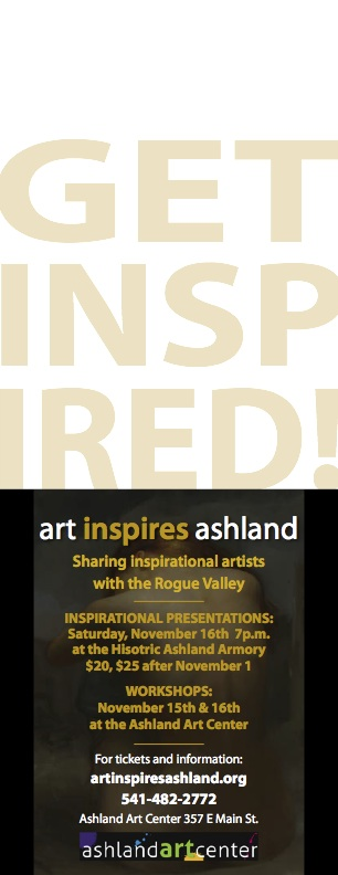 Art Inspires Ashland Postcard back
