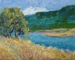 Breezy, oil painting by Silva Trujillo