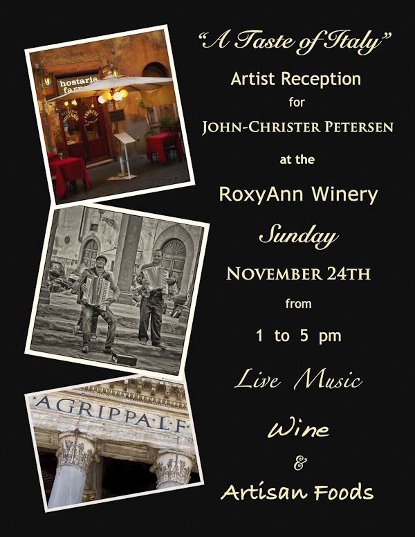 RoxyAnn Exhibit Announcement from John Petersen