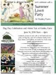 Flag Day-Artists Fair at Hanley Farm flyer
