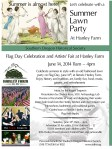 Flag Day-Artists Fair at Hanley Farm flyer