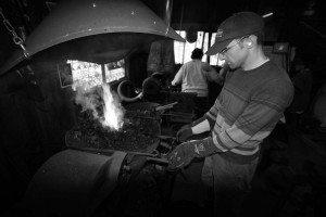 blacksmithing at Clatsop Community College