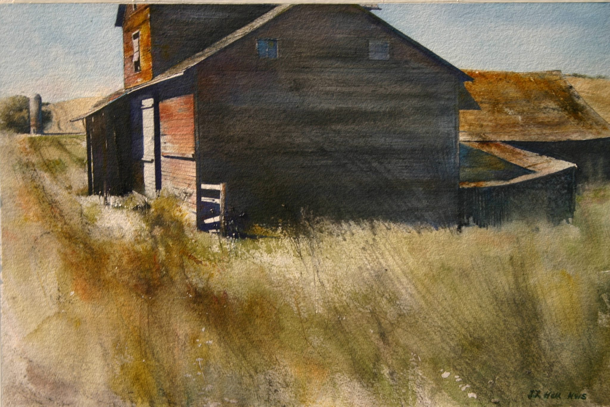 Watercolor artists directory wiki - Near Carlton Watercolor Painting By Lane Hall