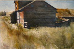 Lane Hall, Near Carlton, Watercolor