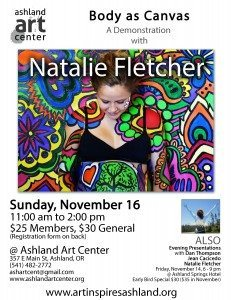 Art Inspires Ashland 2014 Natalie Fletcher Workshop Flyer