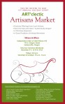Art'clectic December Artist and Artisan Holiday Market in Jacksonville Oregon Flyer