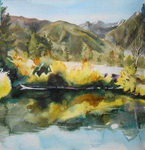 Elaine Frenett promo image - art journal entry for Joseph, Oregon
