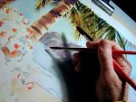Two Brushes One Hand - Watercolor classes with Elaine Frenett