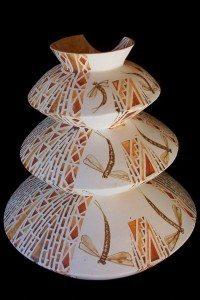 Tall Hinaki 4, Kapowai Series; Dragonfly Lake, 2007; Colleen Waata Ulrich
