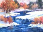 Janis Ellison February 2016 Class: Pastel Painting in a Series. Image shown: Winter Blush, pastel painting by Janis Ellison
