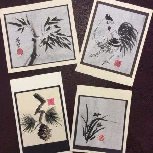 TRavel the World with Art: Sake and Sumi-E Class at Kindred Spirits, Talent, Oregon