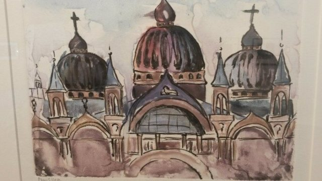 "Artist Teen Mentoring Project 2016 Exhibit: ""Basilica,"" Mono print by Alyssa Summers"