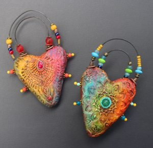 Saturday Art Workshops at Kindred Spirits : Heart Sculptures Saturday Workshop with Cathy Dorris at Kindred Spirits, Talent, Oregon on July 16, 2016
