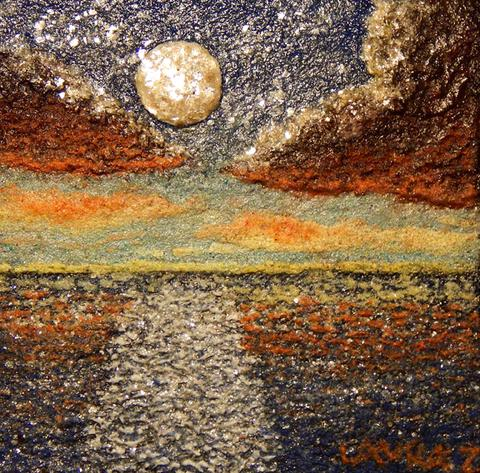 natural earth paints eco friendly artist Mica Moon Reflections, by Laura Zepeda