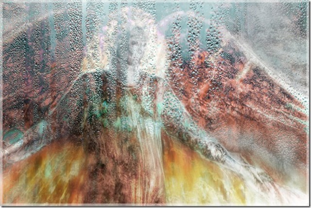 Dispensing Grace II by Lewis Anderson, 2015 Angels show at GoodBean Coffee