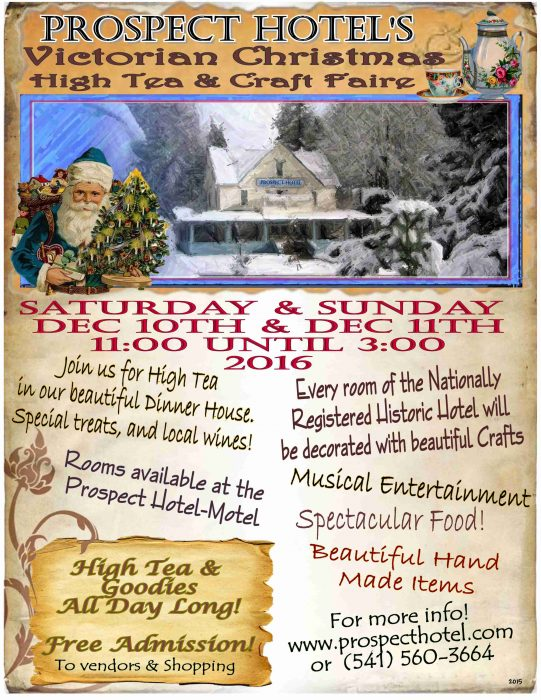 Prospect Hotel's Victorian Christmas High Tea and Craft Faire 2016
