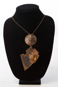 Ashland Gallery Association December Art Exhibits : Copper necklace by Tiffany Hokanson