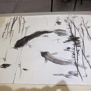 Sumi Calligraphy and Painting Workshop with Yuming Zhu  Sunday, February 19th, 2017, Central Art Supply, Medford, Oregon
