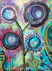Mixed Media painting by Jessica Lee of Ashland, Oregon