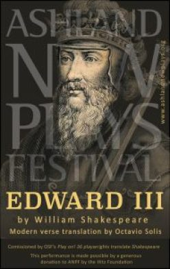 Ashland New Plays Festival Edward III playbill cover